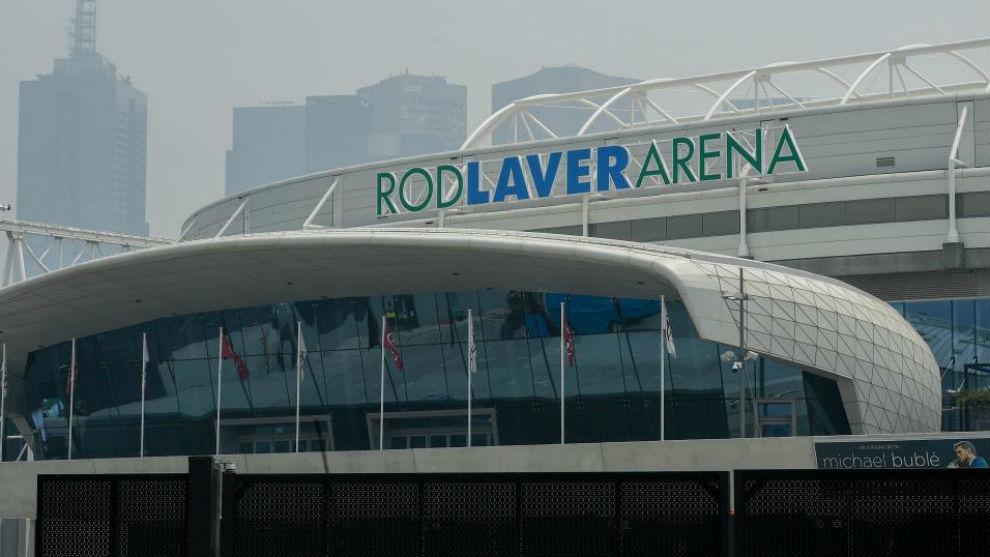 La entrada de la Rod Laver Arena de Melbourne