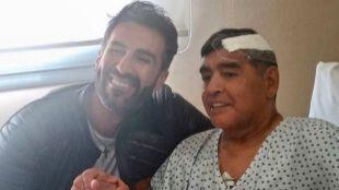 Diego Armando Maradona y Leopoldo Luque.