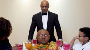 Mike Tyson, durante la 'cena' de Acción de Gracias