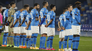 Napoli hace homenaje a Diego Maradona.