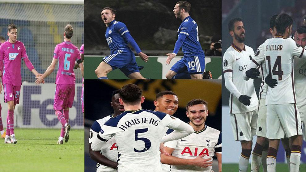 Arsenal, Leicester, Hoffenheim y Roma, los primeros clasificados para 1/16 de final