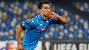 Hirving Lozano anotó el segundo gol del Napoli ante el Rijeka.  