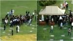 El entierro era un acto privado... hasta que se colaron los drones
