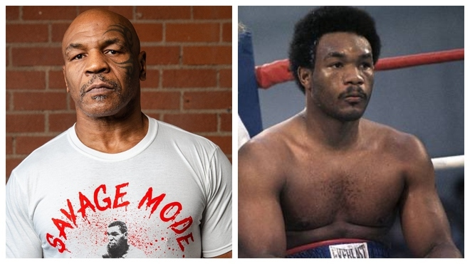 Mike Tyson y George Foreman.