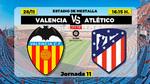 Alineaciones confirmadas para el Valencia-Atlético: Manu Vallejo titular en los locales y Joao descansa en los visitantes