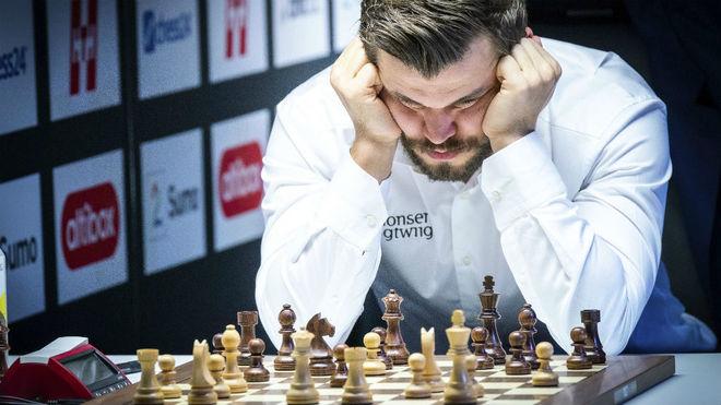 Carlsen, en una partida