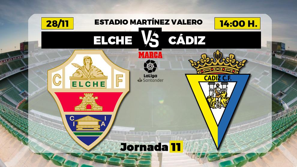 Elche - Cádiz | 28 de noviembre a las 14.00 horas