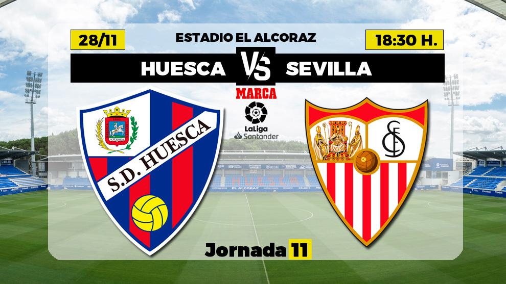 Huesca - Sevilla: horario y dónde ver en directo por TV el partido de Liga