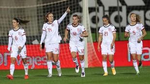 Alexia Putellas dedica el gol anotado ante Moldavia.