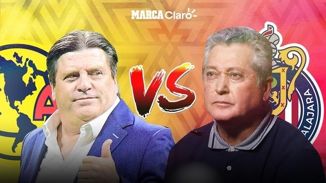 América y Chivas, el cara a cara previo al Clásico Nacional.