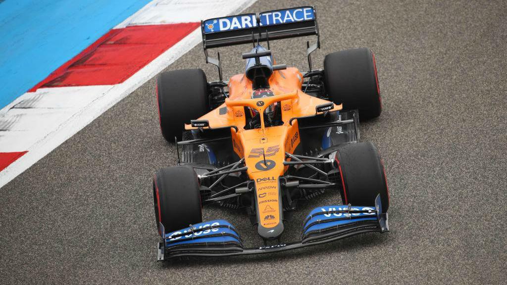 Carlos Sainz, durante la FP3 del GP de Bahréin 2020.