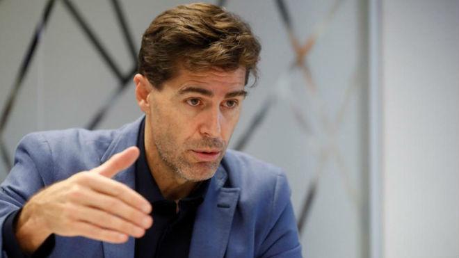 Raúl Chapado, presidente de la Federación de Atletismo.