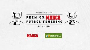 Cartelería de los IV Premios MARCA de Fútbol Femenino.