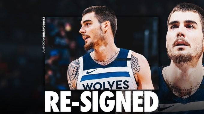 Los Wolves hacen oficial la continuidad de Juancho Hernangómez