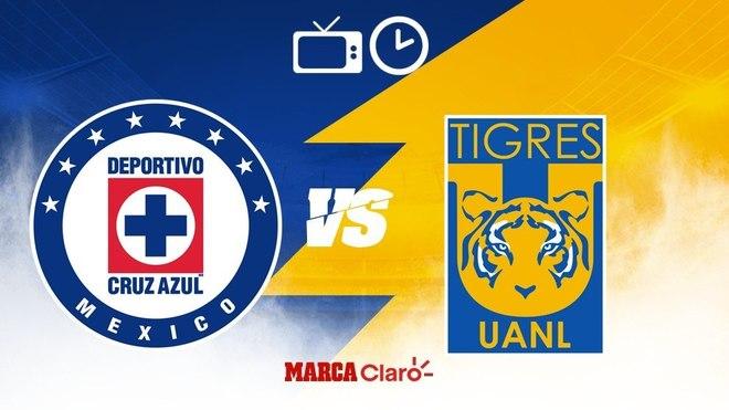 Cruz Azul vs Tigres: Horario y dónde ver.