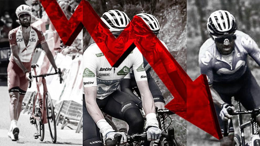 Montaje con varios ciclistas españoles