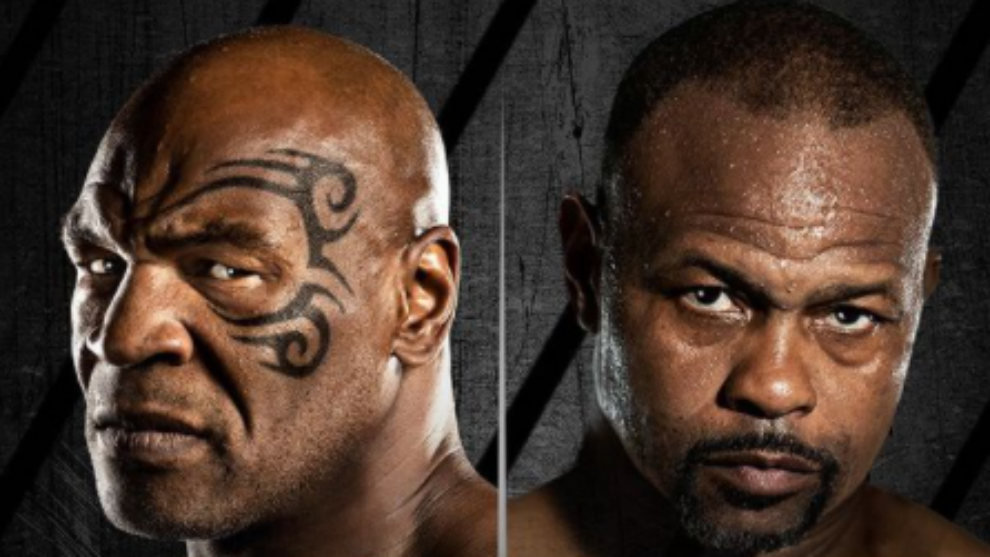 Mike Tyson contra Roy Jones Jr., en directo.