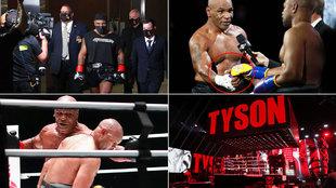 Lo que no viste del combate: el 'séquito' de Mike Tyson, 'Salvados por la campana', Kobe...