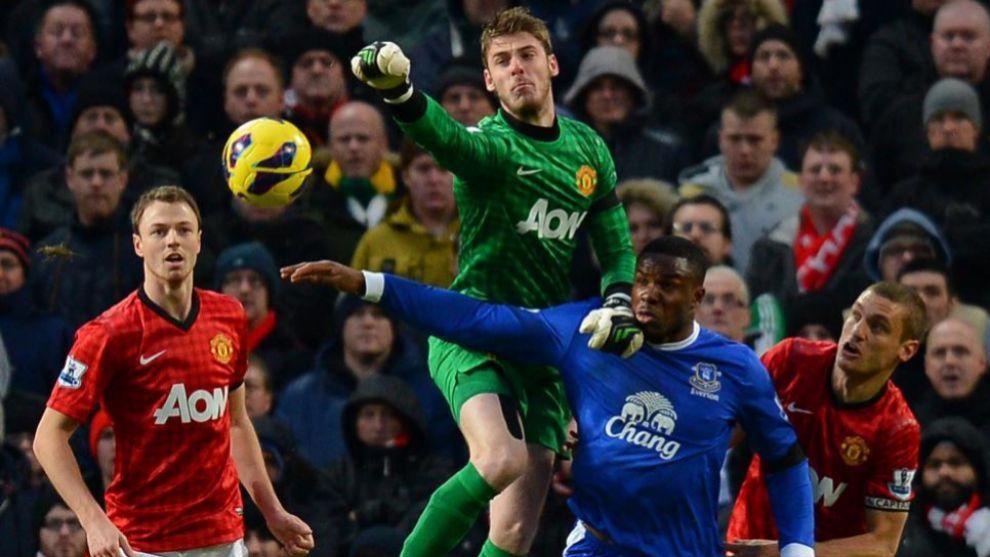 Jonny Evans durante su etapa en el Manchester United