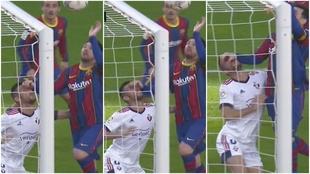 La presunta falta de Messi sobre Oier
