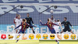 Griezmann marcando el 2-0
