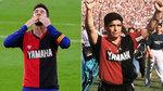 Quedará para la historia del fútbol: el tributo de Messi a Maradona con la camiseta de Newells