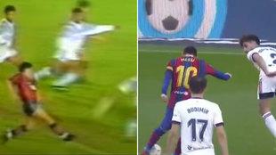 Messi lo volvió a hacer: calcó un gol de Maradona que marcó con Newell's en 1993
