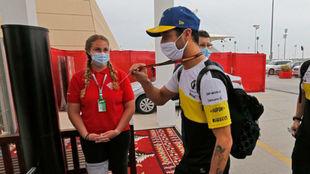 Daniel Ricciardo, en el Gran Premio de Bahréin 2020.
