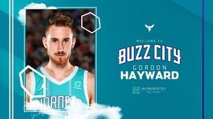 Los Hornets dieron así la bienvenida a Hayward en sus redes...