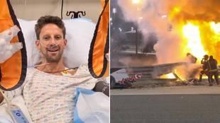 """Grosjean: """"Sin el Halo no estaría hablando ahora"""""""