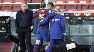 Lenglet se retira del partido contra Osasuna
