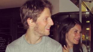 Marion, con Romain Grosjean.