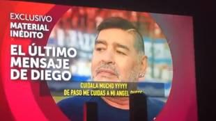 Filtran el último audio que envió Maradona... a la pareja de su exnovia