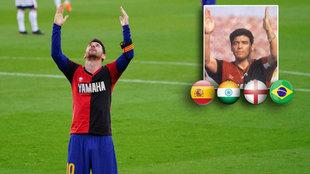 Maradona y Messi: los audios el homenaje de Leo a Diego en diferentes idiomas