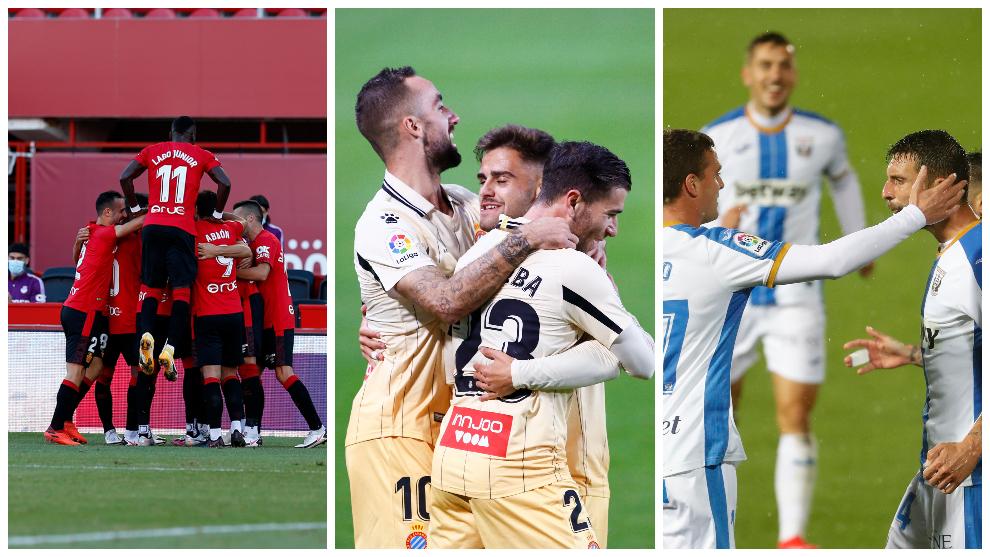 RCD Mallorca, RCD Espanyol y CD Leganés en LaLiga SmartBank.