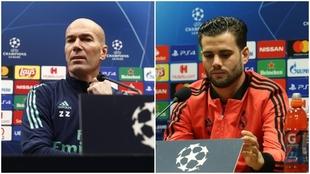 Zinedine Zidane y Nacho Fernández, dando rueda de prensa