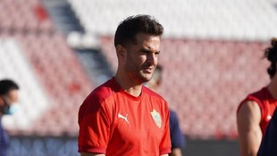 Juan Villar en un entrenamiento.