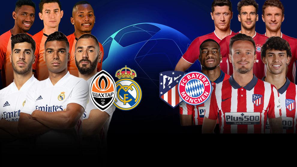 Shakhtar Donestk vs Real Madrid y Atlético vs Bayern, última hora en directo: onces oficiales, novedades...