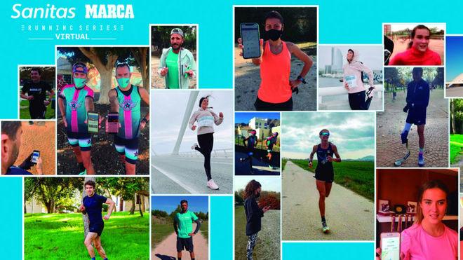 Casi 5.000 corredores participan en la Sanitas MARCA Running Series virtual