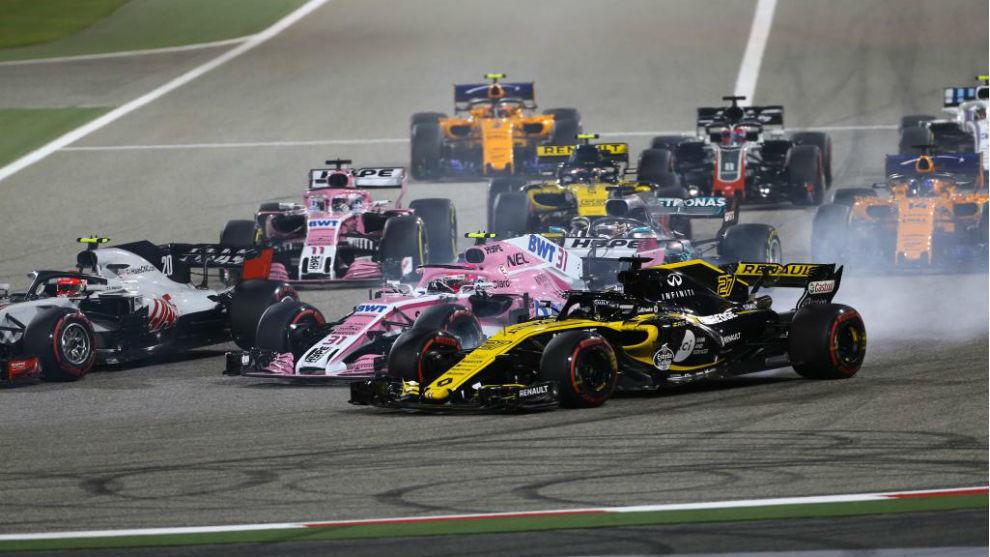 Salida del pasado Gran Premio de Bahréin.