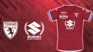 La camiseta del Torino frente a la Sampdoria.