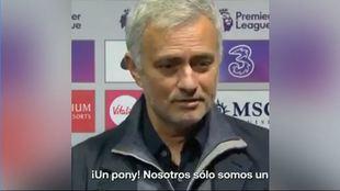 Te sorprenderá con qué compara Mourinho a su propio equipo...