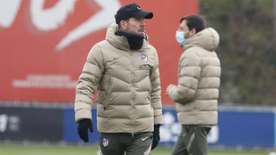 Simeone durante un entrenamiento.