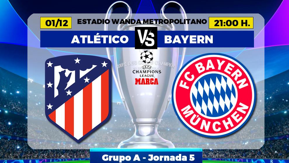 Atletico de Madrid - Bayern de Munich: horario, canal y donde ver hoy...