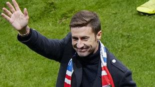 Gabi, el día de su despedida del Atlético de Madrid.