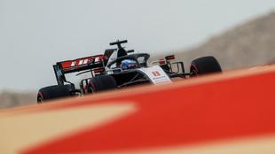 Grosjean, en la FP3 del GP de Bahréin.