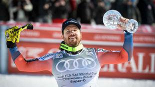 Kjetil Jansrud fue el ganador del último descenso y super G disputado...