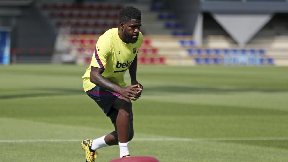 Barcelona player Samuel Umtiti.