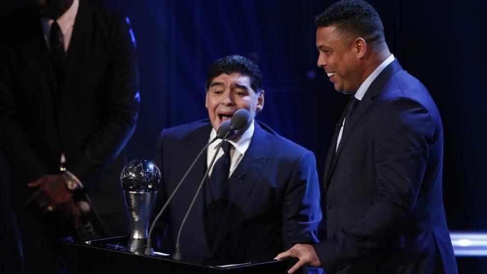 """Ronaldo desvela cómo era su relación con Maradona: """"Deja un legado inolvidable"""""""
