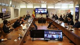 Irene Lozano, en la reunión en el CSD con los presidentes de los...